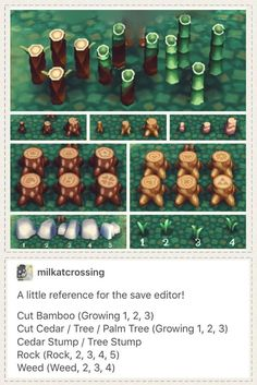 Animal crossing new leaf save editor hacking guide for placing rocks stumps weeds. Acnl landscaping tips #acnl #hackingguide