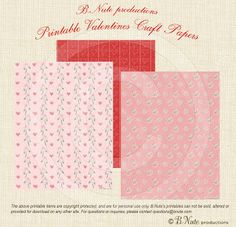 Free Printable Valentine Craft or Scrapbook Paper