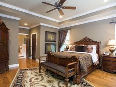 Love this brown master bedroom - plan 055S-0104 | houseplansandmore.com