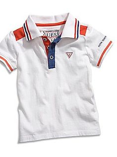 Product Description:Update his wardrobe with this cool polo shirt. Polo Shirt Outfits, Polo Shirt Women, Camisa Polo, Boys Summer Outfits, Kids Outfits, Moda Junior, Polo Shirt Embroidery, Boys T Shirts, Tee Shirts