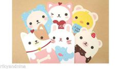 Your place to buy and sell all things handmade Korean Stationery, Stationery Paper, Writing Paper, Letter Writing, Handmade Thank You Cards, Cute Stationary, Cute Candy, Cute Notes, Animal Design