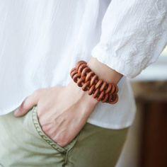 Leather Spiral Bracelet