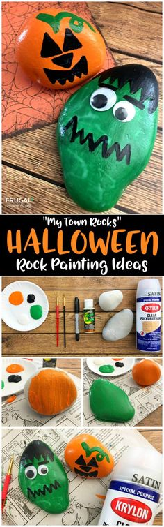 We put together some of the most creative and adorable Halloween Rock Painting Ideas for Kids. Paint and get rocks ready for your Halloween My Town Rocks rock hunt! Tutorial and more My Town Rocks ideas on Frugal Coupon Living.