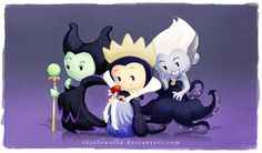 Villain Babies (Maleficent, The Evil Queen and Ursula)