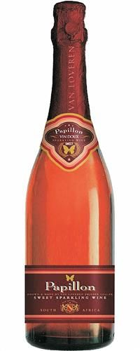 Van Loveren Papillon Vin Doux NV - and I'd give almost anything to get some. Salmon Pink Color, Sparkling Wine, Whiskey Bottle, Champagne, Beverages, Cocktails, Dishes, Wedding, Food