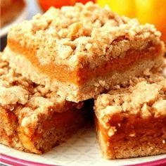 Easy Sesame Chicken Recipe - Crunchy Creamy Sweet Easy Pumpkin Pie, Pumpkin Pie Bars, Homemade Pumpkin Pie, Pumpkin Dessert, Easy Dessert Bars, Easy Desserts, Dessert Recipes, Pie Dessert, Snack Recipes