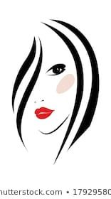 Imagens, fotos stock e vetores similares de Hand drawn fashion illustration-Beautiful woman face - 1040489248 Face Stencils, Girl Silhouette, Painted Wine Glasses, Woman Face, Doodle Art, Art Sketches, Royalty Free Stock Photos, Girl Fashion, Drawings