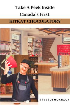 KITKAT CHOCOLATORY Toronto is the first of its kind in North America. North America, Toronto, Take That, Canada, Shopping
