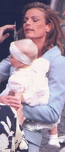 Princess Stephanie of Monaco with her three children Louis