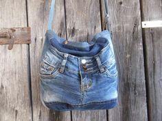 Cool jeans bag cat III denim bag upcycled bag shoulder bag   Etsy Recycle Jeans, Upcycle, Denim Shoulder Bags, Denim Bag, Jeans Pants, Bag Making, Cool Stuff, Cats, Cross Body