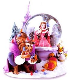 Disney Snowglobes Collectors Guide: Beauty and the Beast winter Snowglobe