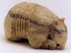 """Costa Rican Stone Sculpture of a Armadillo - PF.4454 Origin: Costa Rica Circa: 500 AD to 1000 AD  Dimensions: 3.25"""" (8.3cm) high x 5.75"""" (14.6cm) depth  Collection: Pre-Columbian Medium: Stone    Location: United States"""
