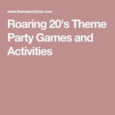 Pin On Roaring 20 S Party Ideas