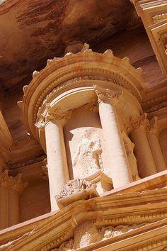 Detail from the Treasury, Petra, Jordan