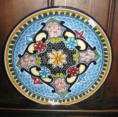 Mexican Talavera Pottery plate - beautiful!