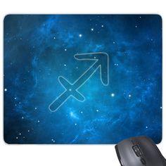 Starry Sky Night Sagittarius Zodiac Constellation Sign Mouse Pad