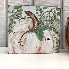 Halloween Activities, Halloween Projects, Fall Halloween, Autumn Painting, Painting On Wood, Pumpkin Painting, Diy Arts And Crafts, Fall Crafts, Fall Fireplace