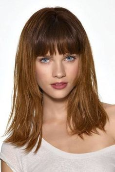 hairstyles for medium length hair with bangs and layers - Google Search