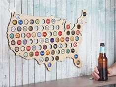 Beer Cap Maps by The Grommet