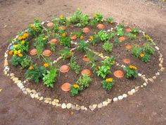 HOW TO PLANT A PIZZA GARDEN- Perfect garden lesson and you can bring the items in to the kitchen for pizza making!! @Jori Nash