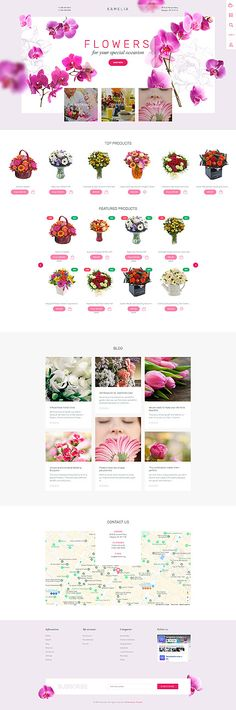 Template 62003 - Kamelia Flower Responsive Shopify Theme