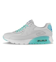 Nike WMNS Air Max 90 Ultra Essential Platinum / Turquoise - Nike Womens