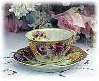 I think drinking tea in a beautiful bone china cup and saucer makes the tea taste better!