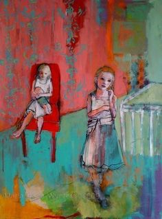 Maria Pace Wynters Limited Edition ACEO art reproduction - Sisters22/50