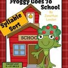 Froggy Goes to School Book Syllable Sort Center Game for Common Core Differentiate your classroom by using this game three ways: 1. one and two wor...