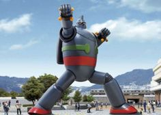 A 60ft. statue of Gigantor in Kobe, Japan.... wow.