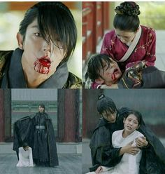 Cut from episode 10 moon lovers .scarlet heart Hae Soo and Wang So Korean Drama Quotes, Korean Drama Movies, Korean Actors, W Kdrama, Kdrama Actors, Kdrama Memes, Lee Joon, Joon Gi, Moon Lovers Drama