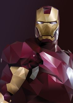 Low poly Iron Man