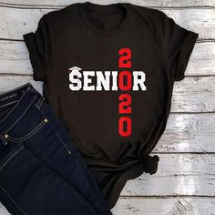 Senior Class Of 2020 School College, Tee, T-Shirt, Senior Shirts, Proud Mom, Class Of 2020, Dad To Be Shirts, Graduation Ideas, Daughters, College, Clothes For Women, Tees