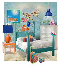 """Finding Nemo Bedroom"" by kathy-martenson-sanko ❤ liked on Polyvore featuring interior, interiors, interior design, home, home decor, interior decorating, Urban Outfitters, Pine Cone Hill, Worlds Away and Rotaliana"