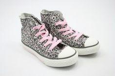 All stars roze met luipaard print