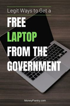 Wanna know how to get a free laptop from the government? Here are the best ways to get a laptop for free for school, college, work. Earn Money From Home, How To Get Money, Make Money Online, Stuff For Free, Free Stuff By Mail, Low Cost Internet, Cheap Internet Service, Free Coupons By Mail, Laptop For College