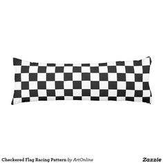 Checkered Flag Racing Pattern Body Pillow