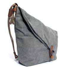 Women Vintage Messenger Bag Genuine Leather Canvas Crossbody Bag ❤ liked on Polyvore featuring bags, messenger bags, crossbody bag, leather crossbody, leather cross body messenger bag and canvas courier bag