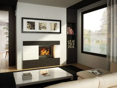 Seguin Europa 7 Cast Iron Cheminee Fireplace Heats up to Heating capacity based on ceiling heights and 6 star rated homes. Factors such as building characteristics, quality of insulation, type of firewood used and climatic zone Wood Burning Logs, Contemporary, Wood Fireplace, Freestanding Fireplace, Home Decor, Contemporary Fireplace Decor, Swing, Fireplace, Doors