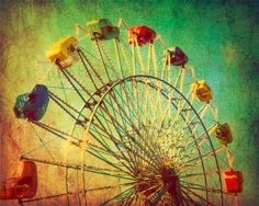 Carnival photography autumn circus texas baby room green nursery ferris wheel - The Unbearable Elation of Summer 8x10