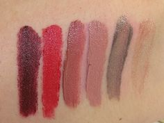 Urban Decay Vice Lipstick Palette Swatches (Disturbed, 714, Carnal, Safe Word, Studded, Whip)