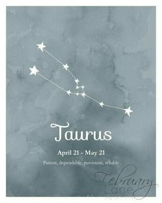 Taureau zodiaque Constellation Wall Art imprimable 8 x 10 Taurus Star Constellation, Constellation Tattoos, Taurus Star Sign, Horoscope Tattoos, Taurus Tattoos, Cancer Tattoos, Zodiac Tattoos, Birthday Horoscope, Astrology Stars