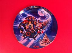 DISNEY COLLECTORS PLATE ITS A SMALL WORLD 1994 A TALE OF THE CHRISTMAS FLYER 9""