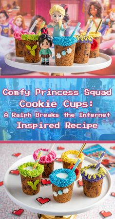 To get ready for the release of Ralph Breaks the Internet, The Geeks have created a brand new recipe for Comfy Princess Squad Cookie Cups! New Recipes, Crockpot Recipes, Cookie Recipes, Brownie Recipes, Dessert Recipes, Favorite Recipes, Soup Recipes, Cheese Recipes, Recipes Dinner