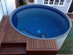 Brisbane Australian Plunge Pool Small Pool Design, Round Pool, Outdoor Baths, Outdoor Pool, Jacuzzi, Small Pools, Small Backyard Pools, Pool Decks, Backyard Pool Designs