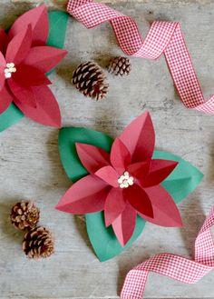 La stella di natale o Poinsettia, è una delle piante simbolo del Natale, una pianta elegante e decorativa. Ecco il link con il tutorial per realizzarla http://www.lafigurina.com/2015/12/tutorial-come-realizzare-una-stella-di-natale-di-carta/