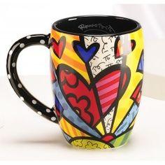Romero Britto coffee mug