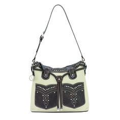 American West Brown and Cream Handbag