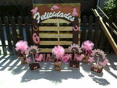Decoraciones Cowgirl, rosa café...