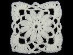 How To Crochet Granny Square And How To Join As You Go Tutorial Pattern #9 - YouTube